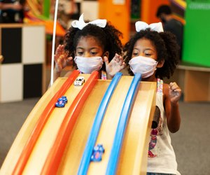 Read, set, race at the Chicago Children's Museum. Photo courtesy of the museum