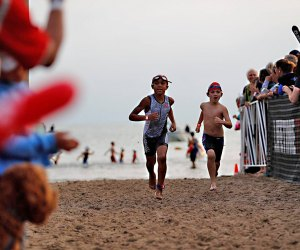 Young athletes come out for the Lifetime Kids Tri Chicago. Photo courtesy of the event