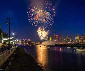 Fireworks are back on the Boston waterfront. Courtesy of Summer on the Waterfront - Boston, Photo by Christian Merfeld
