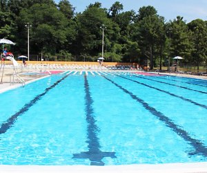 Christopher Morley Park boasts an Olympic-sized pool and a kiddie pool. Photo courtesy of  the pool