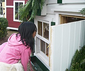 Take a peek inside the mini houses at Maplewood's Dickens Village. Photo courtesy of Maplewood Village