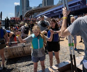 Explore the South Street Seaport at City of Water Day. Photo by Ian Douglas