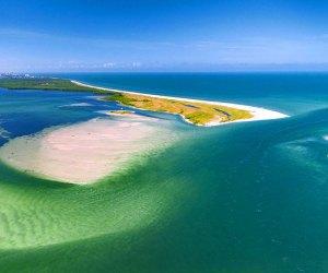 aerial od caladesi island state park