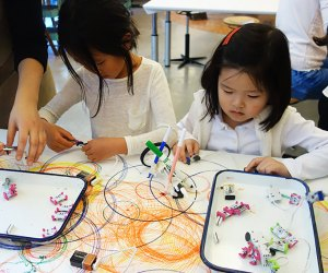 Circuitry meets art-making at the Children's Museum of the Arts' Invention Lab.