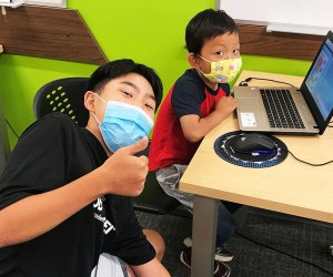 Build video games, learn to code, and have a blast at Code Ninja! Photo courtesy of the camp