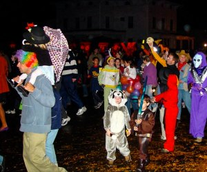 Boosolini, the resident ghost, kicks off the popular parade in Collinsville. Photo courtesy of Collinsvillehalloween.com