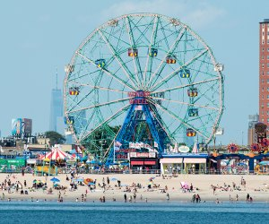 Coney Island's shores are easy to get to, and action packed from the rides to the waves. Photo courtesy of NYC Parks