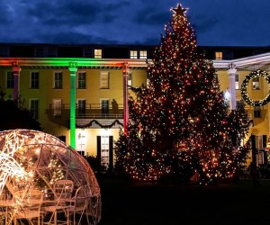Take a Christmas trip to Cape May to see beautifully decorated Congress Hall. Photo courtesy of the resort