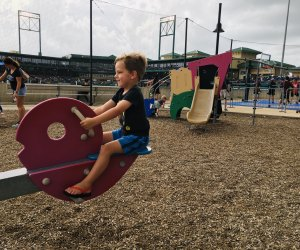 The Memorial Hermann Play Land is one of our favorite things about taking our kids to a Skeeters game at Constellation Field.