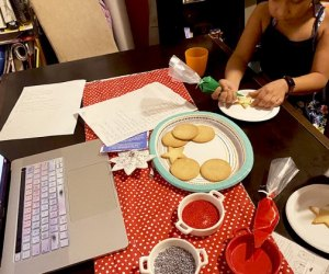 If you're staying in, set up a virtual cookie decorating day with family over winter break