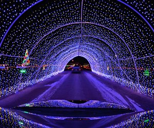 A wonderland of light displays synchronize to holiday classics at the Let it Shine Lightshow, Photo courtesy of  the organizers
