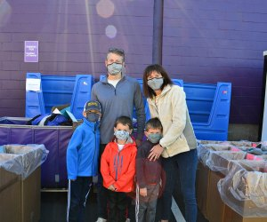 Families can volunteer together in Newtonville. Photo courtesy of Cradles to Crayons