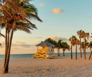 The beach at Crandon Park in Miami. Photo courtesy of the Greater Miami Convention & Visitors Bureau