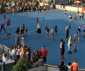 A new pop-up roller rink is coming to the Cross County Shopping Center in Yonkers on August 17. Photo courtesy of the organizers