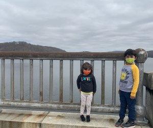 kids walking across the Croton Gorge Dam
