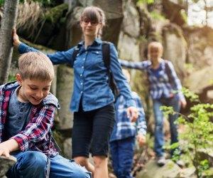 Family hiking at Crystal Springs Resort in NJ