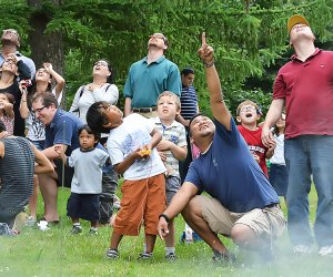 Celebrate a rocket launch with dad at the Center for Science Teaching & Learning. Photo courtesy of CSTL