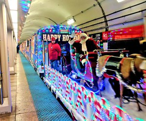 You know Christmas has officially arrived in Chicago when the CTA decks out their  holiday trains! Photo courtesy of the CTA