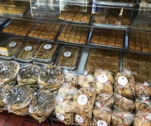 Pastry case at Damascus Bread