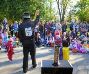 "The Darien Halloween Parade is a little ""magical"" for kids. Photo courtesy of Darien"