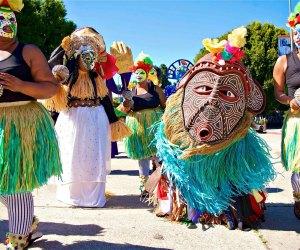 Day of the Ancestors: Festival of Masks. Photo courtesy of Leimert Park Artwalk