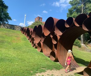 The grounds of the deCordova Sculpture Park are open again, with timed ticketing. Photo courtesy of  Kate Dowling