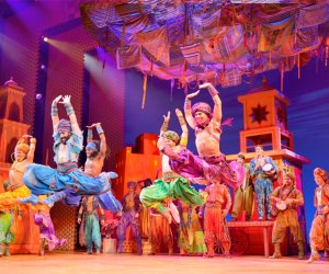"Disney On Broadway has released a new instructional video teaching fans how to dance the opening number ""Arabian Nights"" (above) from Aladdin. Photo by Deen Van Meer"