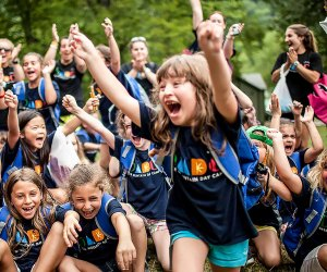 Deer Mountain Day Camp in Pomona, NY, offers transportation from Bergen County, Hoboken, and Jersey City. Photo courtesy of the camp