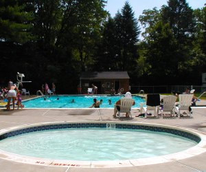 the pool at the Delaware River Family Campground