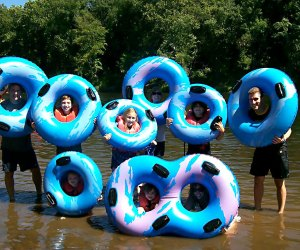 Head to the river to cool down!  Photo courtesy of Delaware River Tubing