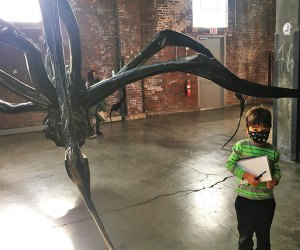 Dia Beacon large-scale Crouching Spider by Louise Burgeois
