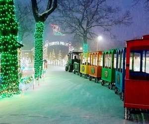 All aboard DiDonato's Magical Holiday Express Christmas train for the journey to the Holiday Village. Photo courtesy of the DiDonato's