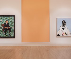 The Obama Portraits are on loan from the National Portrait Gallery at the Brooklyn Museum