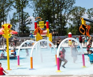 Visit the expansive brand new 2-acre water park, The Water Main, at Diggerland USA! Photo courtesy of DIggerland USA