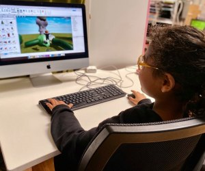 Coding classes for kids means learning while still enjoying screentime! Photo courtesy of Digital Dragon