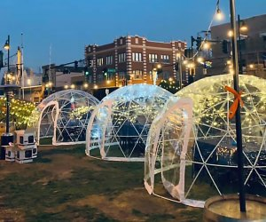 Eat in an igloo at Digs on Canal.