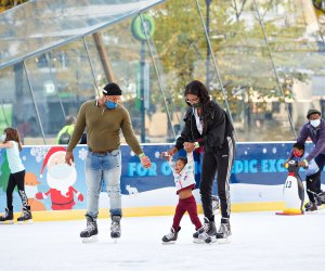 Lace up your skates and hit the ice at the Rothman Ice Rink at Dilworth Park. Photo courtesy of Center City District