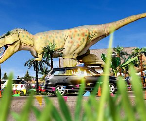 Load the family in the car for the Dinosaur Adventure Drive-Thru, which features 80 life-sized dinos to gawk at. Photo courtesy of Dinosaur Adventure