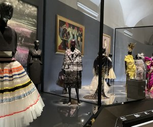 Christian Dior's wearable artwork is the subject of an installation at the Brooklyn Museum. Photo by author