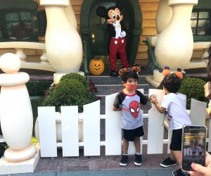 Mickey is home! Trick-or-treat, Mickey.