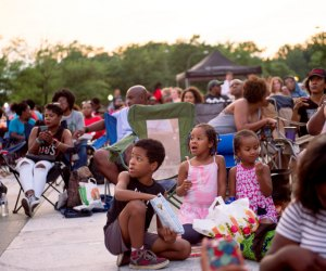 Enjoy an outdoor movie with friends and family in DC. Photo by Roquois Clarke