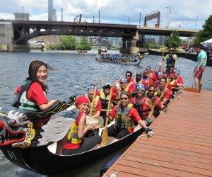 The annual Dragon Boat Race in Ping Tom Memorial Park. Photo courtesy of the  Chinatown Chamber of Commerce
