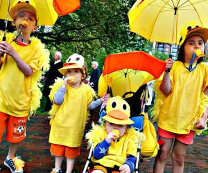 Take your lil-Bostonians to the very adorable Duckling Day Parade. Photo courtesy of Friends of the Public Garden