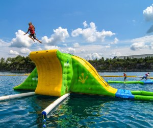 Dutch Springs is a waterpark that sits on a a lake. Photo courtesy of Discover Lehigh Valley