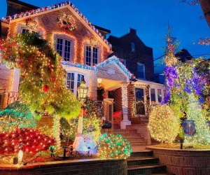 Enjoy a drive or a walk through the beautiful lights in Dyker Heights. Photo courtesy of Dyker Heights Christmas Lights