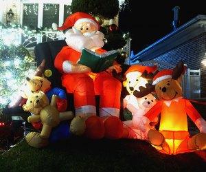 Christmas inflatables and lights make for happy Christmas traditions