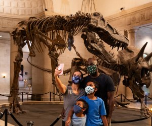 Selfies with the T-Rex, who can resist? Photo courtesy of the LA Natural History Museum