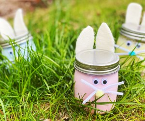 These bunny slime jars and adorable and icky. In other words, kids adore them. Photo by the author