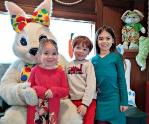 Easter Bunny Train. Photo courtesy of Danbury Railway Museum