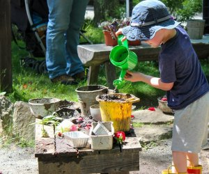 The Nature Explore Outdoor Exhibit has lots of hands on spaces. Photo by the EcoTarium